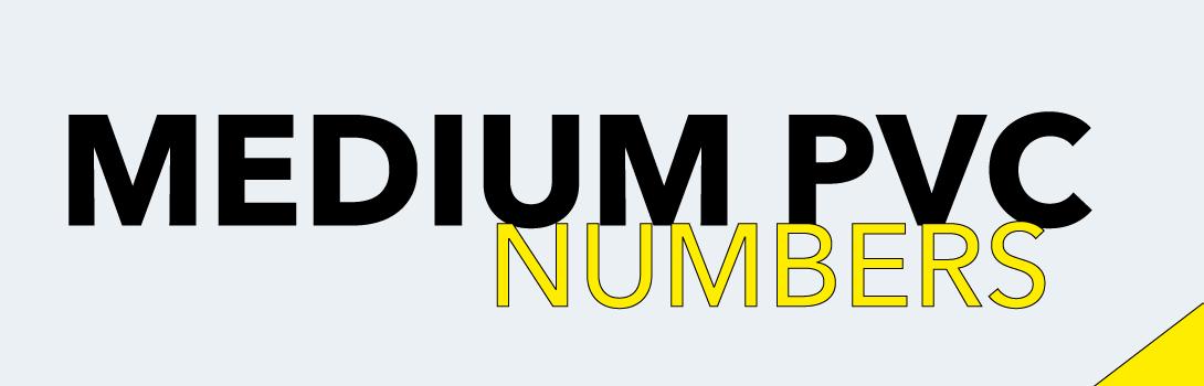 Numbers PVC medium