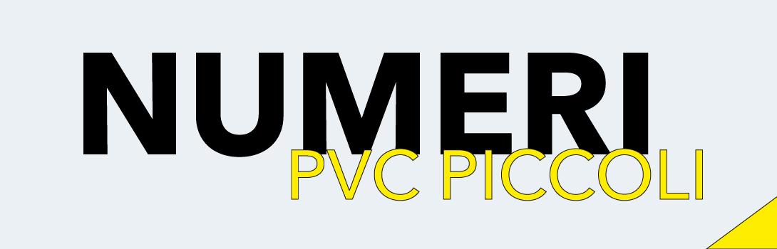 Numeri PVC piccoli