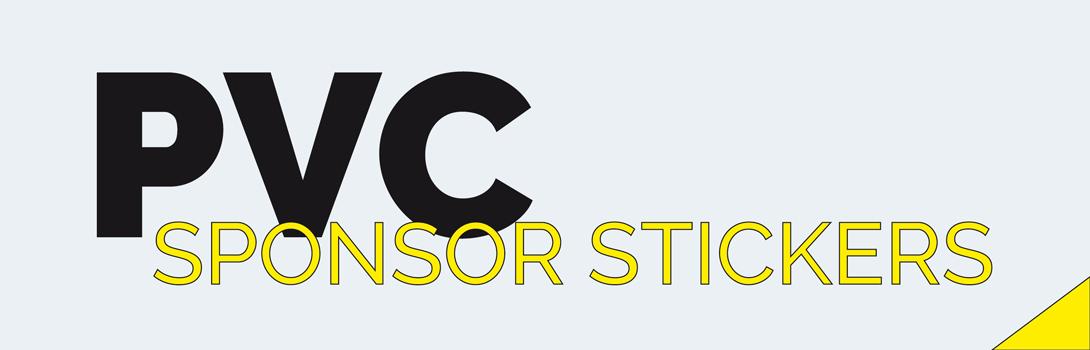 Pvc sponsor stickers