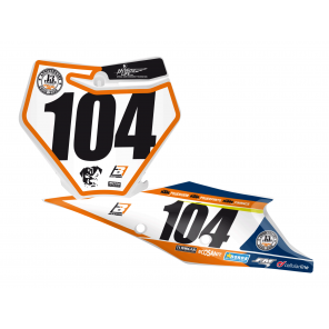 Kit Adesivi Portanumero Personalizzato modello Replica KTM Trophy 2018