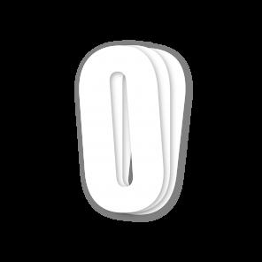 Kit 3pz Numeri Gara Bianco 13X7cm