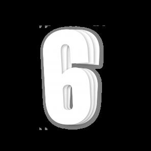Kit 3pz Numeri Gara Bianco 13X7cm C