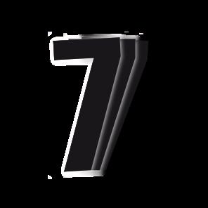 Kit 3pz Numeri Gara Nero 13X7cm C