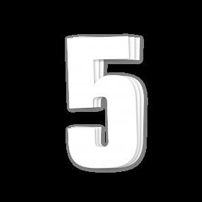 Kit 3pz Numeri Gara Bianco 16X7,5cm