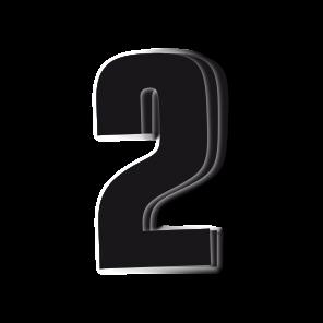 Kit 3pz Numeri Gara Nero 16X7,5cm
