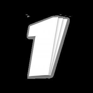 Kit 3pz Numeri Gara Bianco 16X20cm