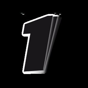 Kit 3pz Numeri Gara Nero 16X20cm