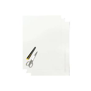 Kit Fogli 3pz - Crystall Liscio Bianco