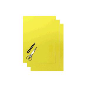 Kit Fogli 3pz - Crystall Liscio Giallo