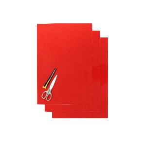 Kit Fogli 3pz - Crystall Liscio Rosso