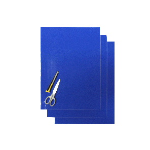 Kit Fogli 3pz - Crystall Liscio Blu