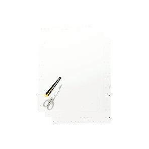 Kit Fogli 3pz - Crystall Bianco Forato
