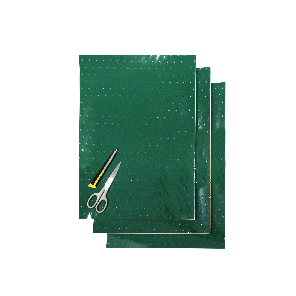 Kit Fogli 3pz - Crystall Verde Forato