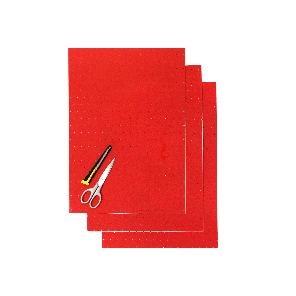 Kit Fogli 3pz - Crystall Rosso Forato