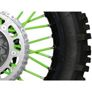 Kit rivestimento raggi ruota - verde
