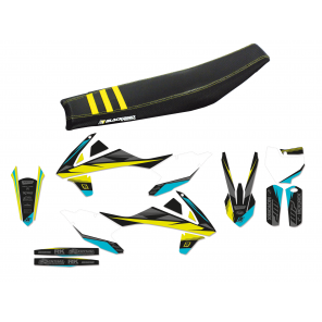 Kit completo Plastiche Copertina sella kit adesivi Stealth Grey KTM