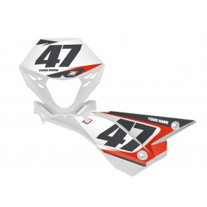 Kit Adesivi Portanumero Personalizzato modello De Lux