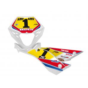 Kit Adesivi Portanumero Personalizzato modello Replica BETA Factory 2018