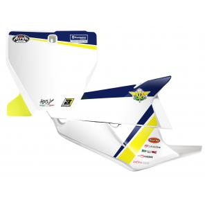 Kit Adesivi Portanumero Personalizzato modello Replica HUSQVARNA Trophy 2020