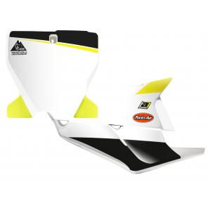 Kit Adesivi Portanumero Personalizzato modello Replica HUSQVARNA Factory 2020