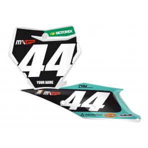 Kit Adesivi Portanumero Personalizzato modello Replica KTM Team Marchetti 2018