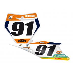 Kit Adesivi Portanumero Personalizzato modello Replica KTM Factory Racing 2018