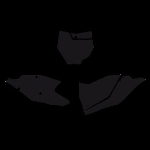 Kit Adesivi Portanumero Monocolore KTM SX-SXF 16-18 - NO SX 250 16