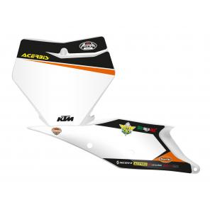 Kit Adesivi Portanumero Personalizzato modello Replica KTM Trophy 2020