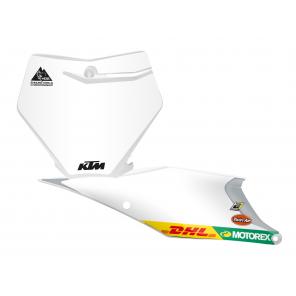 Kit Adesivi Portanumero Personalizzato modello Replica KTM Factory Racing 2020