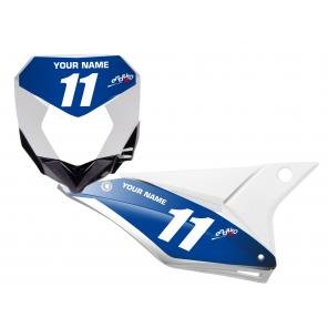 Kit Adesivi Portanumero Personalizzato modello Replica SHERCO CH racing 2018
