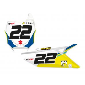 Kit Adesivi Portanumero Personalizzato modello Replica Team KSRT Kevin Strijbos 2020 SUZUKI