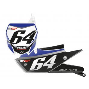 Kit Adesivi Portanumero Personalizzato modello Replica YAMAHA Factory Racing 2018