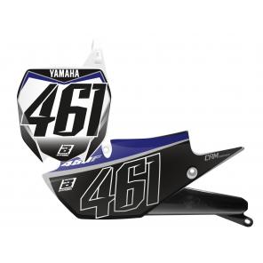 Kit Adesivi Portanumero Personalizzato modello Replica YAMAHA Factory Racing 2019