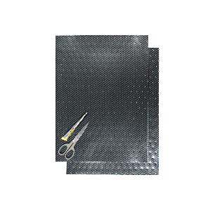 Kit Fogli 2pz - Liscio Carbonio Forato
