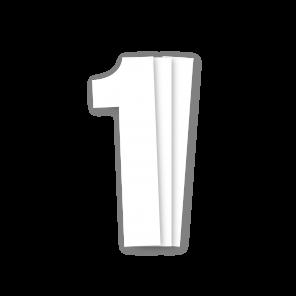 Kit 3pz Numeri Gara Bianco 13X7cm P