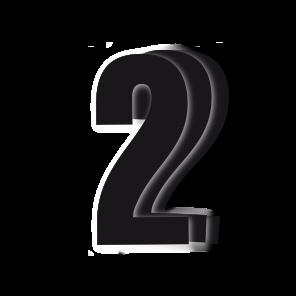 Kit 3pz Numeri Gara Nero 13X7cm P