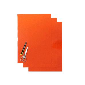 Kit Fogli 3pz - Crystall Liscio Arancio
