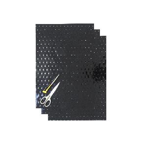 Kit Fogli 3pz - Crystall Nero Forato
