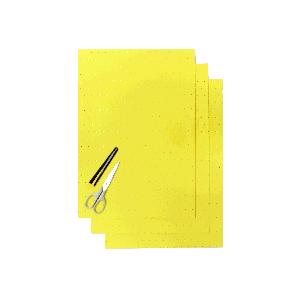 Kit Fogli 3pz - Crystall Giallo Forato