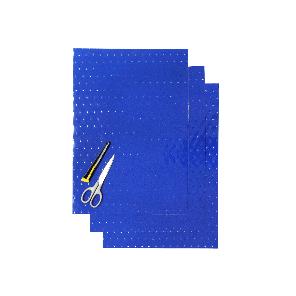Kit Fogli 3pz - Crystall Blu Forato