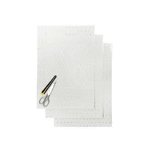 Kit Fogli 3pz - Crystall Trasparente Forato