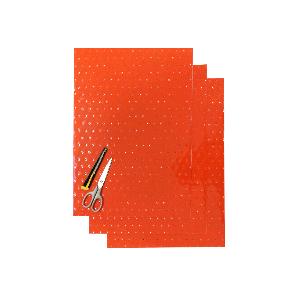 Kit Fogli 3pz - Crystall Arancio Forato