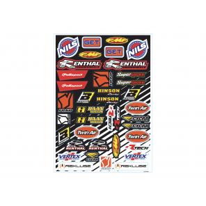 Kit adesivi loghi sponsor mini - D