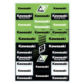 Kit adesivi loghi sponsor Kawasaki
