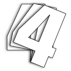 Kit 3pz Numeri Gara Bianco Vintage