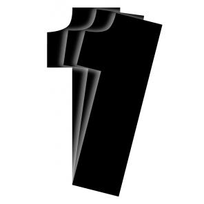 Kit 3pz Numeri Gara Nero Vintage