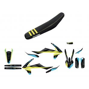 Kit completo Plastiche Copertina sella kit adesivi Stealth Yellow KTM